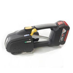 MB820 16-19mm Akumulatorowa wiązarka ręczna do taśm PET/PP w zestawie bateria i ładowarka