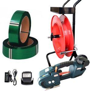 Zestaw: bandownica elektryczna TES + odwijacz + bateria + ładowarka