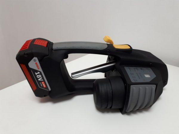 Messersi MB620 12-16mm Ręczna wiązarka akumulatorowa do taśm PET/PP w zestawie bateria i ładowarka 3