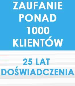 ZAUFANIE PONAD 1000 KLIENTÓW