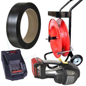 Zestaw do bandowania MB620 + taśma PP + odwijacz + bateria + ładowarka